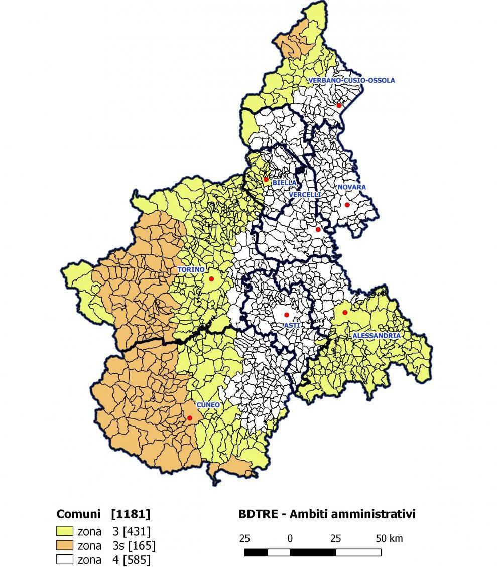 Nuova classificazione sismica regionale